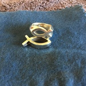 Retired James Avery Ichthus ring and pendant